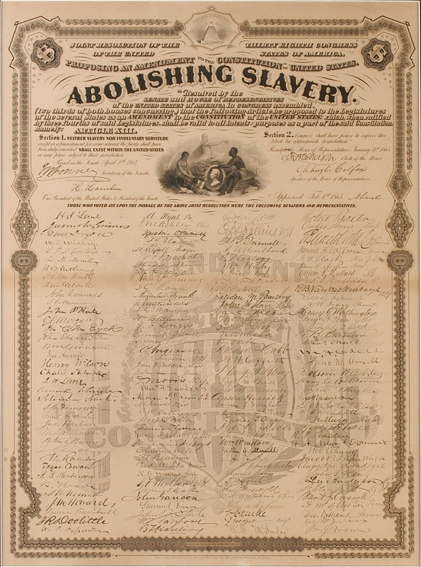the 13th amendment and abolishment of slavery in spielbergs lincoln Thirteenth amendment although congress abolished slavery in the district of columbia in 1862, and president abraham lincoln's emancipation proclamation ended the practice of slavery in rebellious states in 1863, at war's end in 1865 the question of slavery had not been.