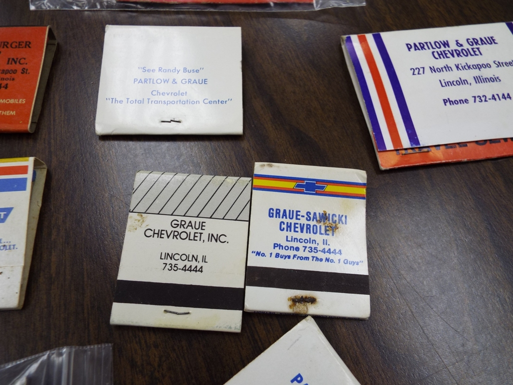Graue Has A Collection Of Matchbooks Reflecting The Different Names Of The  Dealership, From Auspurger U0026 Pleines With The Old Address Of The Dealership  And A ...